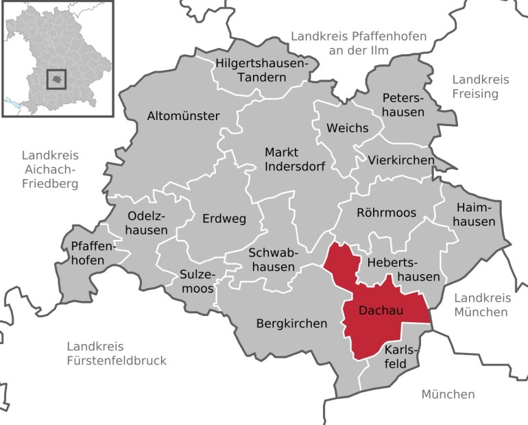 Dachau - Wikipedia intended for German Concentration Camps Map