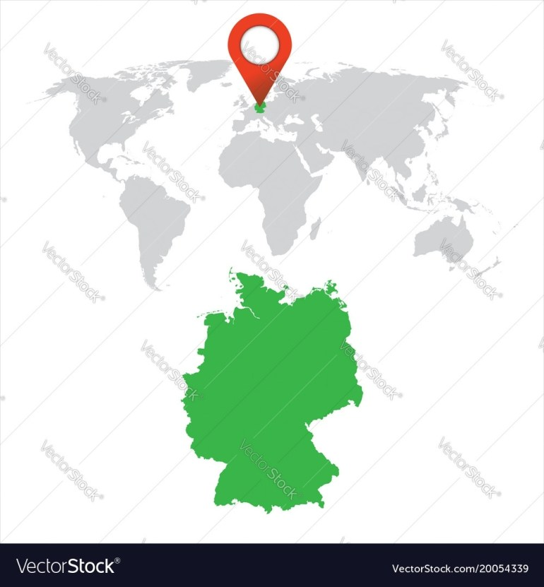 Detailed Map Of Germany And World Map Navigation intended for Germany On World Map
