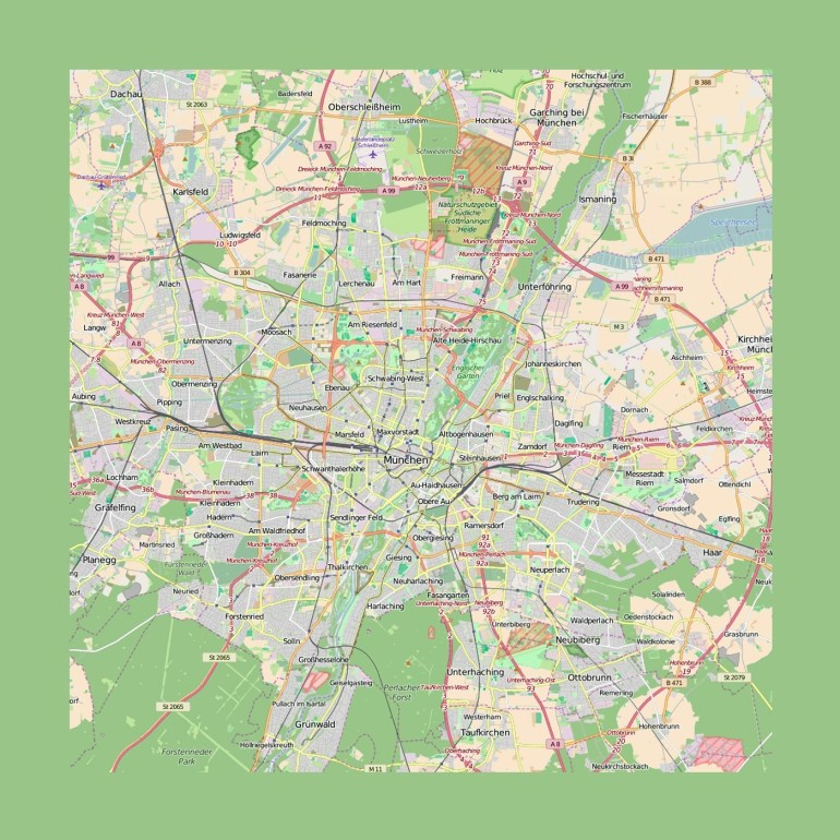 Detailed Map Of Munich City And Its Surroundings   Munich   Germany with Munich Germany Map Of Europe
