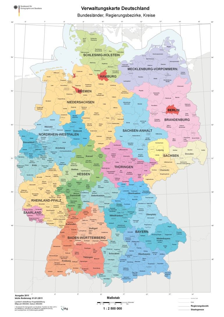 Districts Of Germany | Gifex in Germany Districts Map