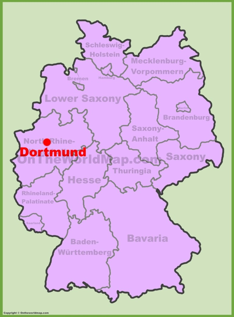 Dortmund Location On The Germany Map inside Dortmund Germany Map