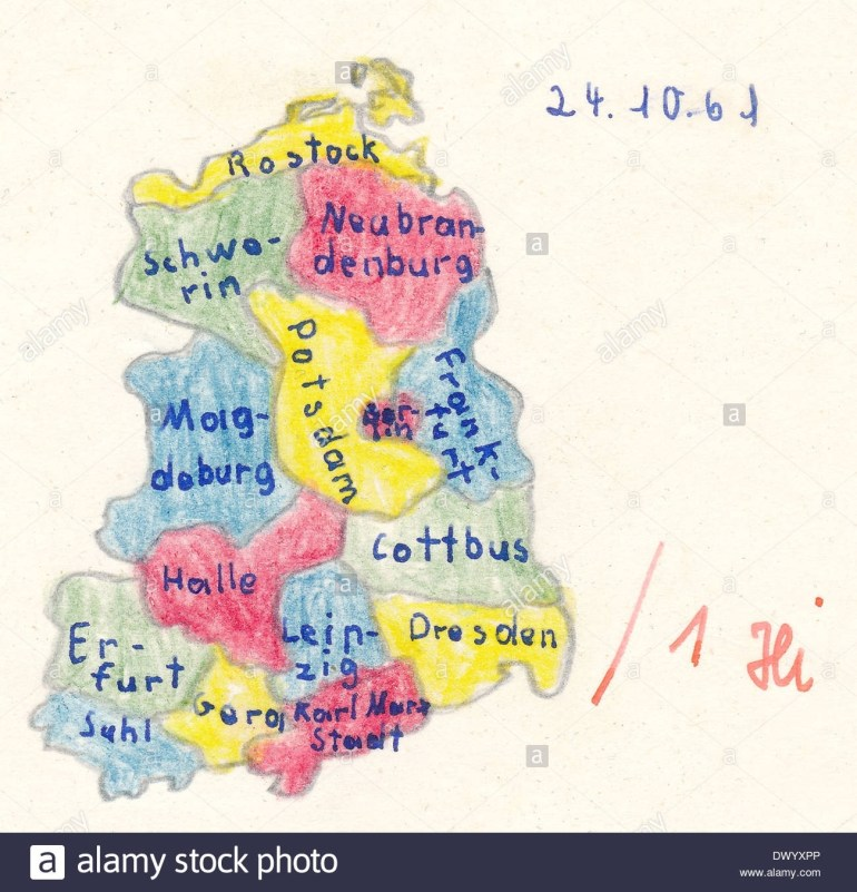East Germany Stock Photos & East Germany Stock Images - Alamy regarding Map Of East Germany 1970