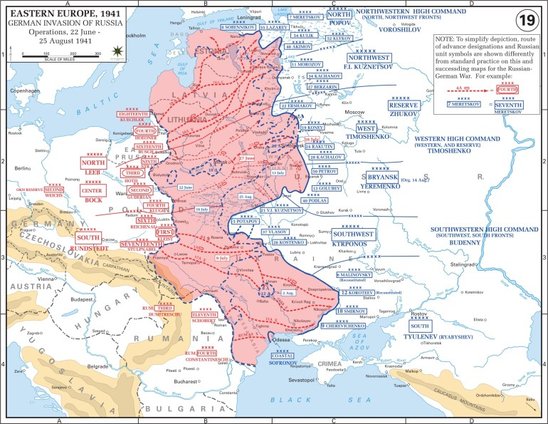 Eastern Front Maps Of World War Ii - Inflab - Medium for Map Of German Invasion Ww2