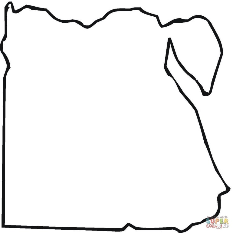 Egypt Map Outline Coloring Page | Free Printable Coloring Pages pertaining to Germany Map Coloring Page