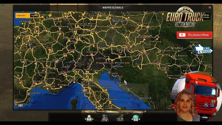 Euro Truck Simulator 2 (1.33 Beta) My Big Map Of Europe 2/12/2018 + Dlc's &  Mods within German Truck Simulator Europe Map