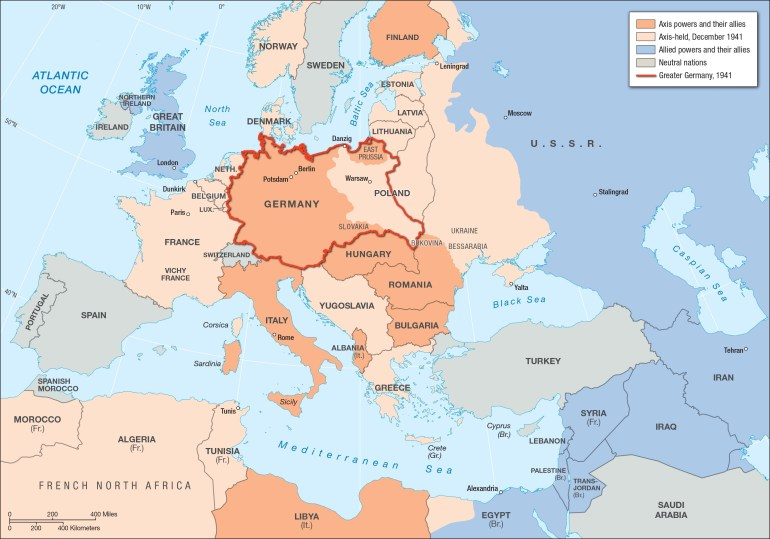 Europe And The Middle East, 1941 | Facing History And Ourselves with regard to Germany Map Before Ww2