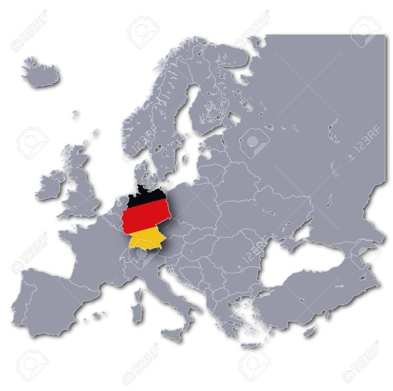 Europe Map Germany intended for Germany Map Europe