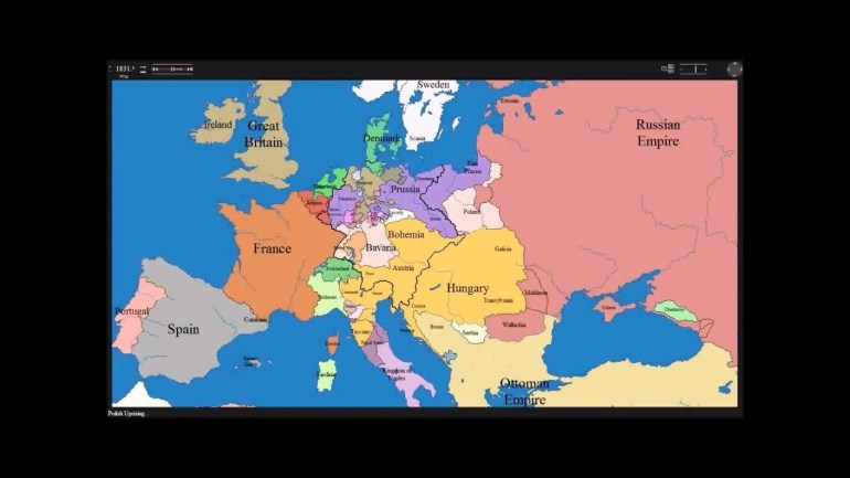European Time Lapse Map W Years & Events intended for Germany Map Before Ww1 And After
