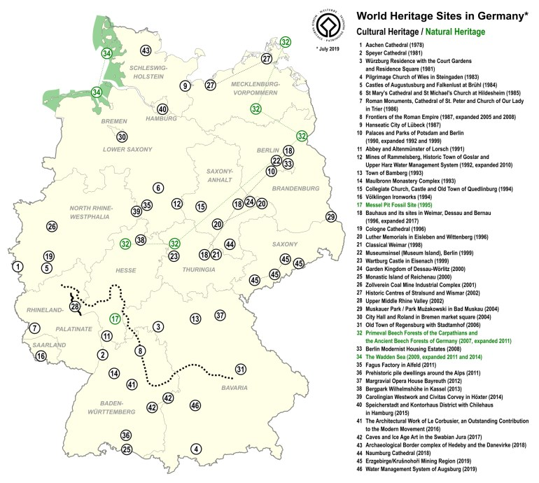 File:world Heritage Sites In Germany Map En - Wikimedia Commons with regard to Germany World Heritage Sites Map