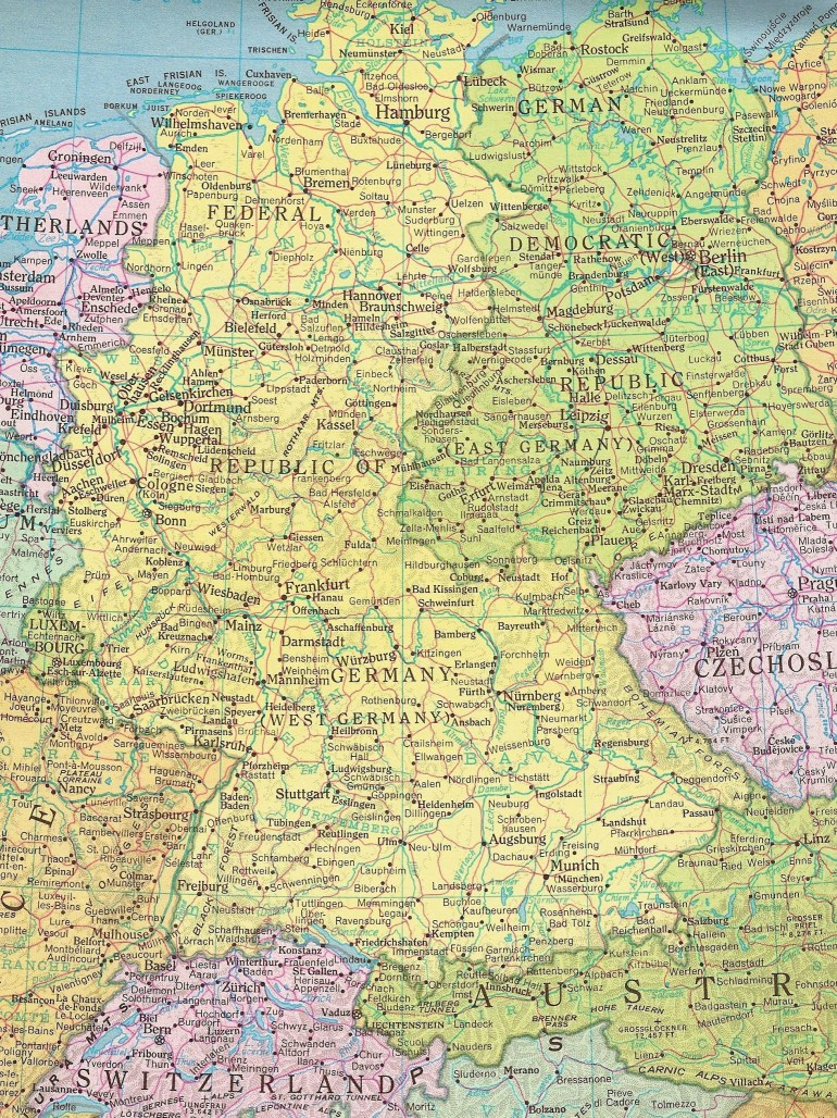 Former East Germany And West Germany | All Things German | East inside Former East Germany Map