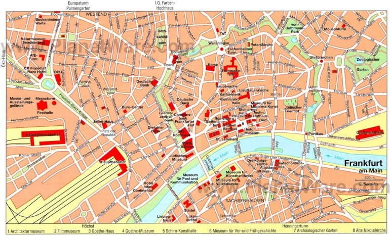Frankfurt Map - Tourist Attractions | Germany In 2019 | Paris throughout Tourist Map Of Frankfurt Germany