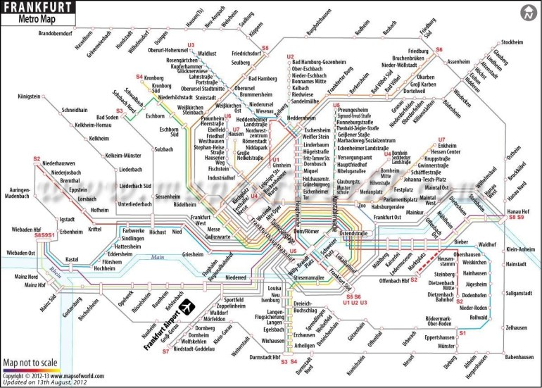 Frankfurt Metro Map | My Work | Train Station Map, Map, Frankfurt regarding Frankfurt Germany Train Station Map