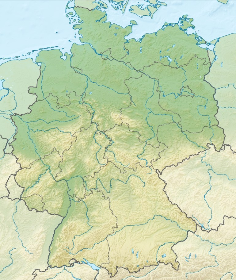 Geography Of Germany - Wikipedia intended for East And West Germany Border Map
