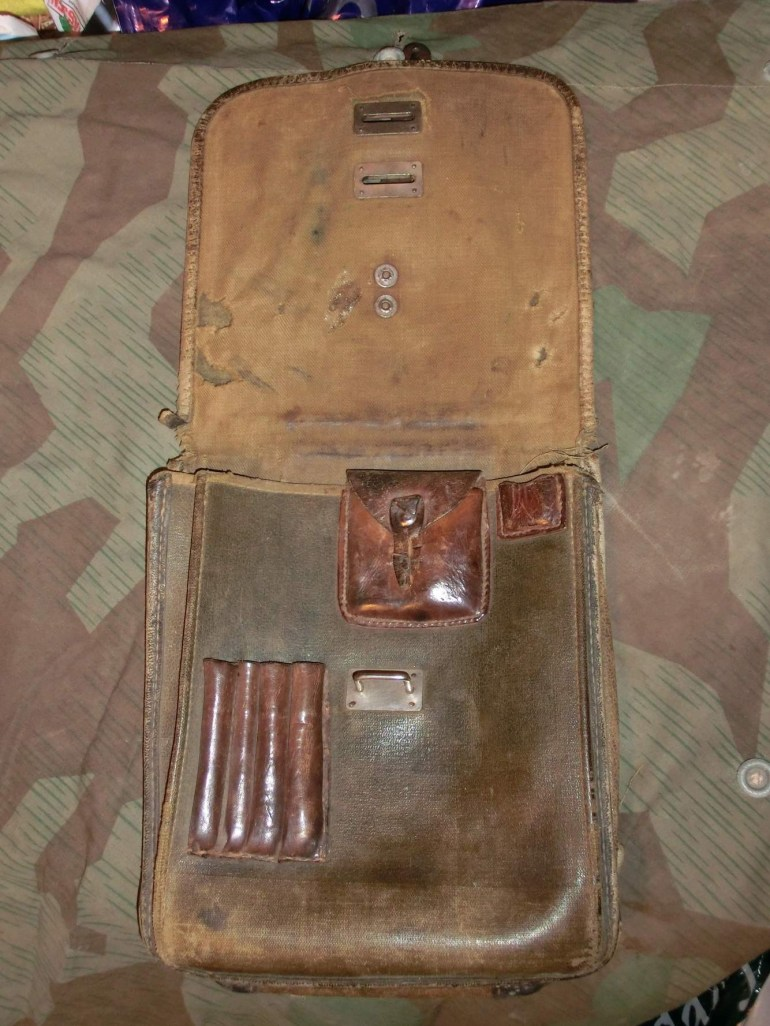 German/russian Map Case with Ww2 German Map Case