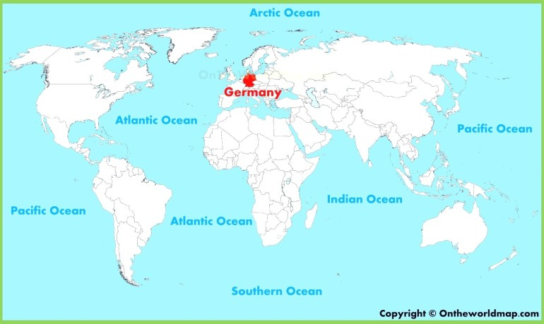 German World Map Maps Germany 96 Best Beautiful At On The Of And with regard to World Map With Germany Highlighted