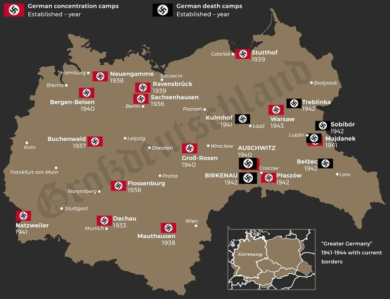 Germandeathcamps - All About The Bill within Map Of Concentration Camps In Germany To Visit