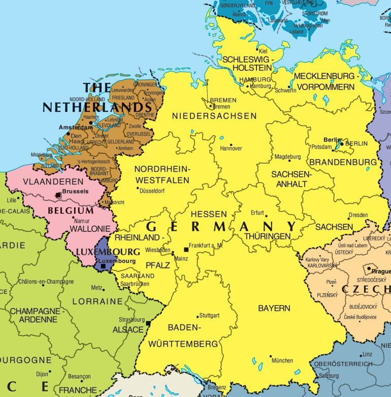 Germany And Belgium Map • Mapsof within Map Of France Belgium And Germany