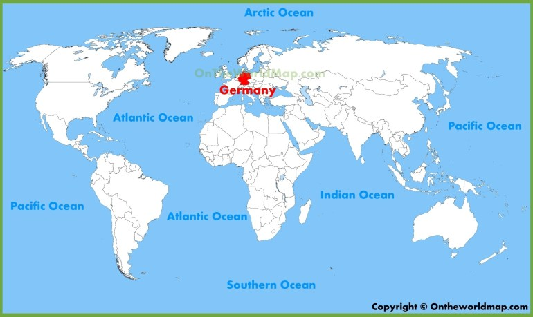 Germany Location On The World Map in Location Of Germany In World Map