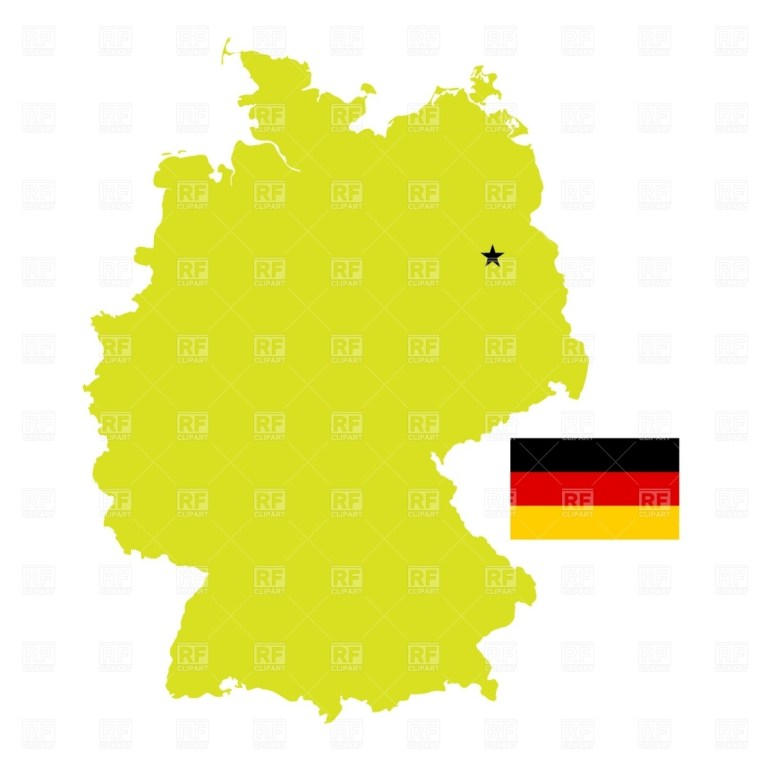 Germany Map And Flag Stock Vector Image with regard to Germany Map Vector Free Download