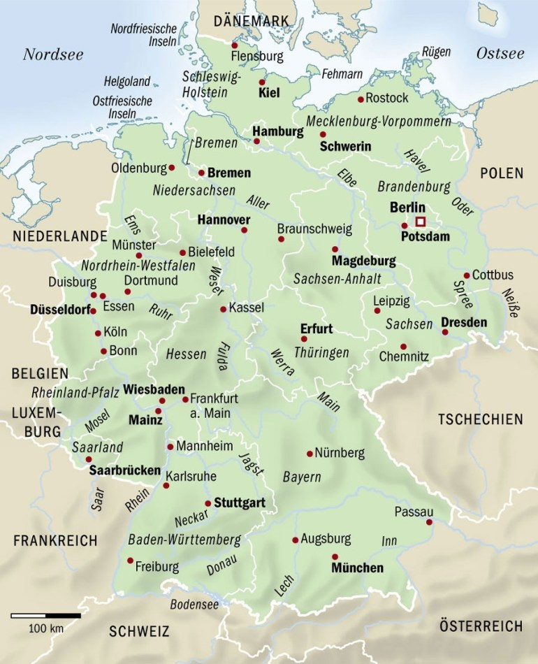 Germany Map - Full Size | Gifex inside Lonely Planet Map Of Germany