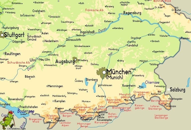 Germany Map Mountains | D1Softball with regard to Mountains In Germany Map
