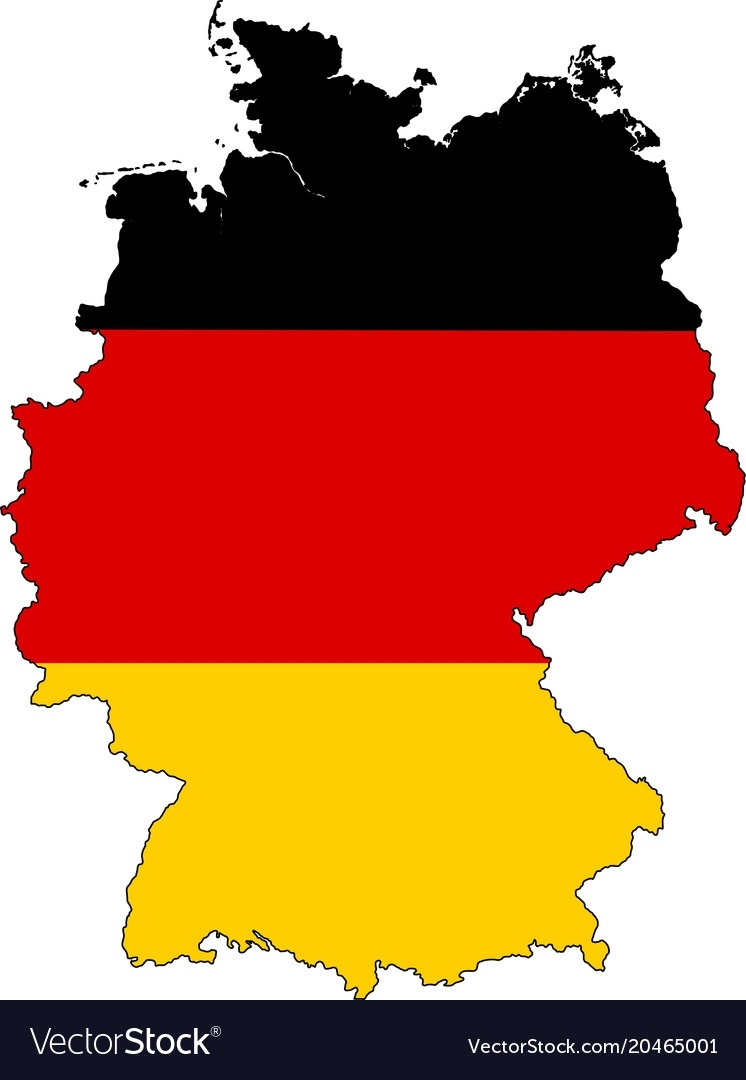 Germany Map Outline With Flag pertaining to Germany Map Vector Free Download