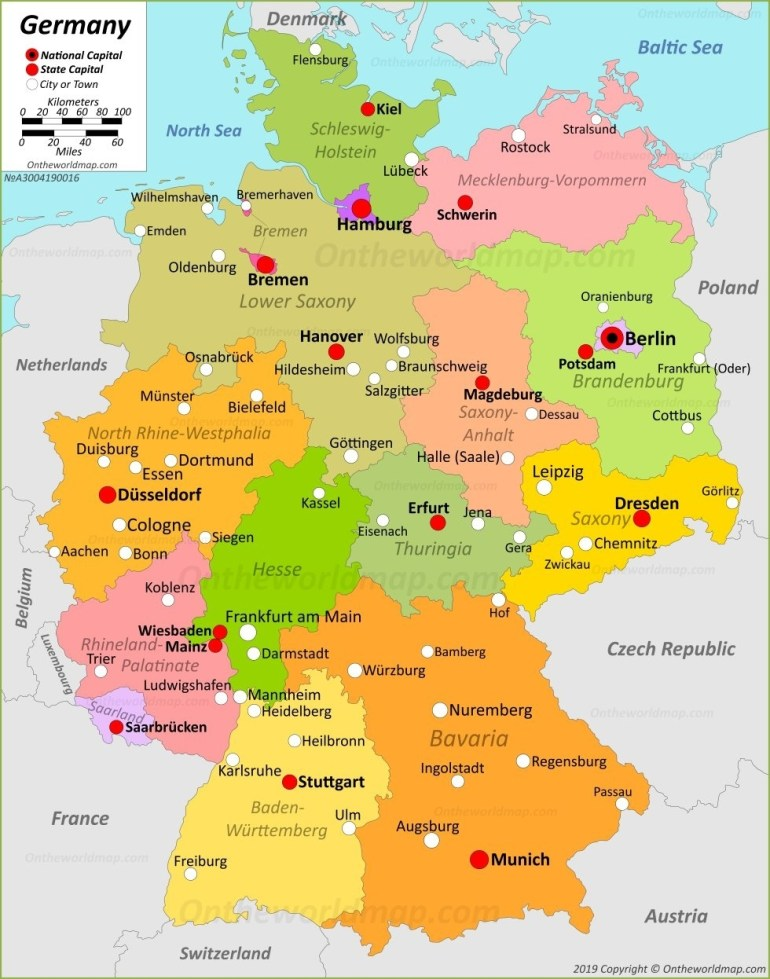 Germany Maps | Maps Of Germany pertaining to Free Map Of Germany With Cities And Towns