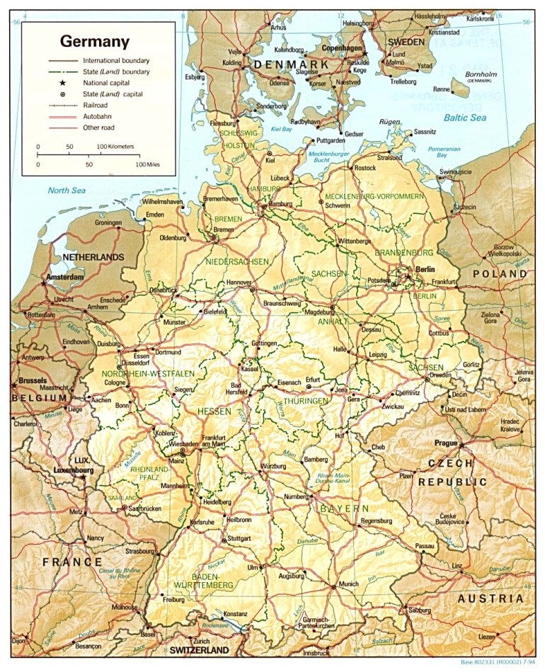 Germany Maps - Perry-Castañeda Map Collection - Ut Library Online with regard to Map Of East Germany 1980