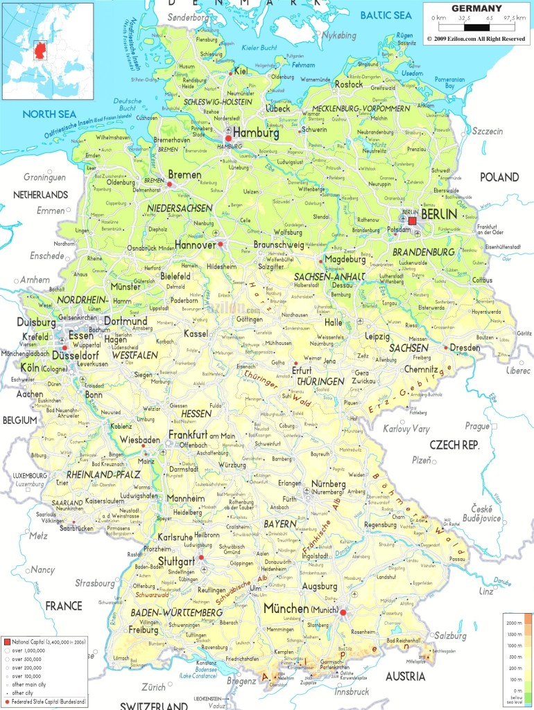 Germany Maps With Towns And Cities And Travel Information | Download regarding Free Map Of Germany With Cities And Towns