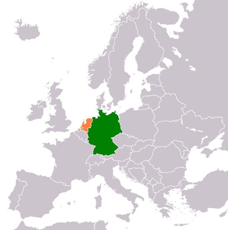 Germany–Netherlands Relations - Wikipedia regarding West Germany World Map