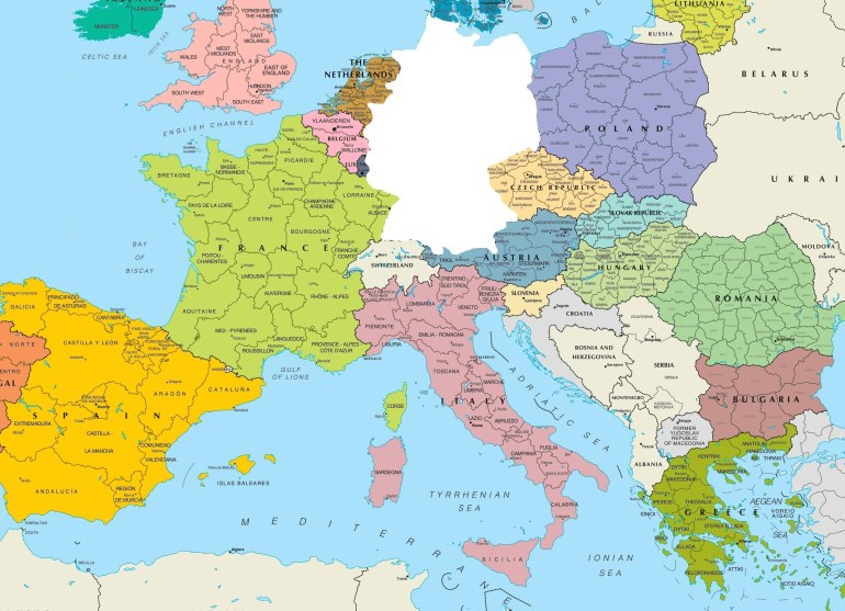 Germany On Europe Map K9Cev2O | D1Softball with Where Is Germany In Europe Map