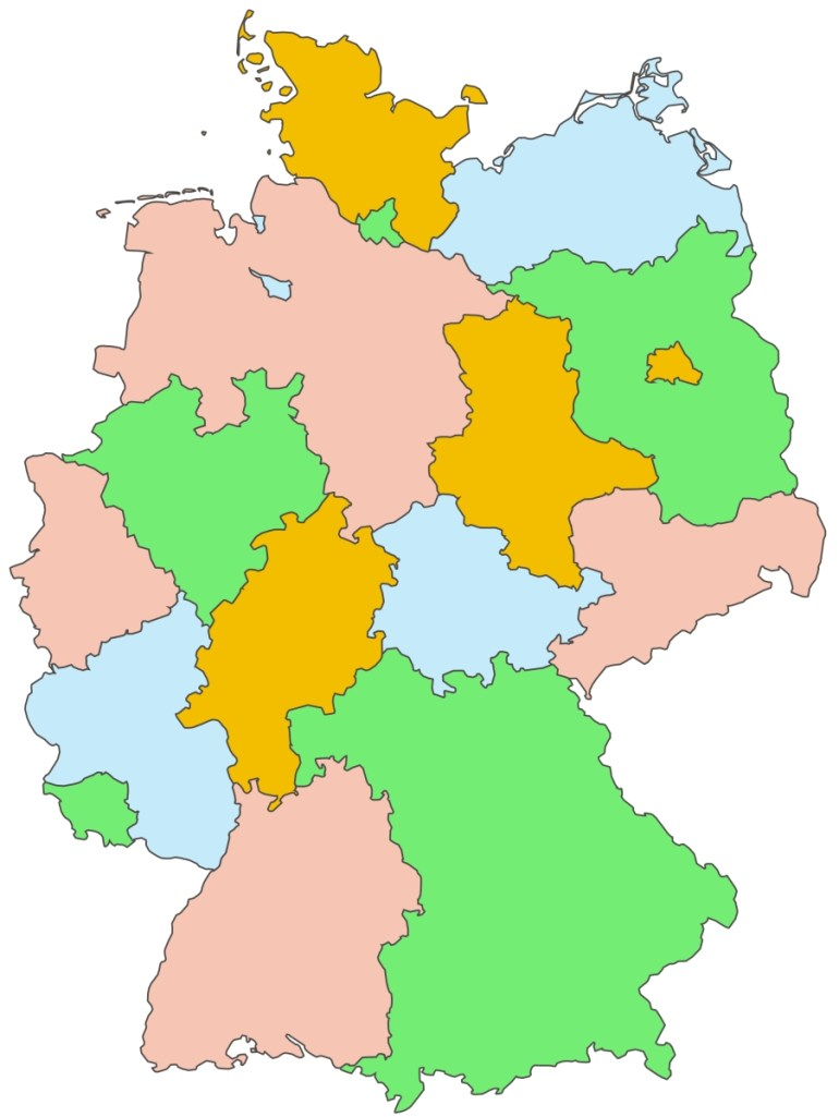 Germany Outline Map - Full Size | Gifex inside Outline Map Of Germany With States