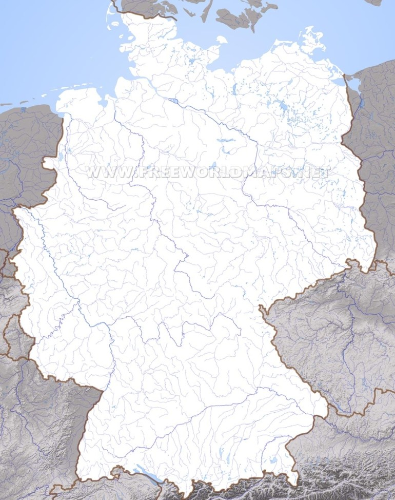 Germany Physical Map pertaining to Physical Geography Map Of Germany