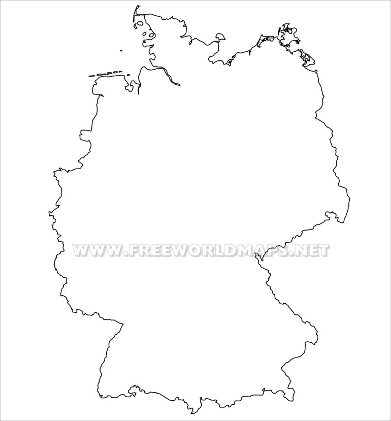 Germany Political Map in Outline Map Of Germany Printable