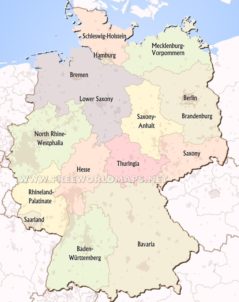 Germany Political Map with Map Of Germany Showing Hamburg