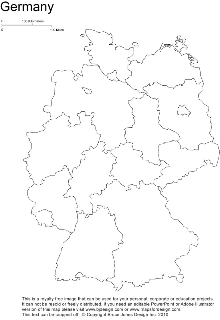 Germany Printable, Blank Maps, Outline Maps • Royalty Free with regard to Empty Map Of Germany