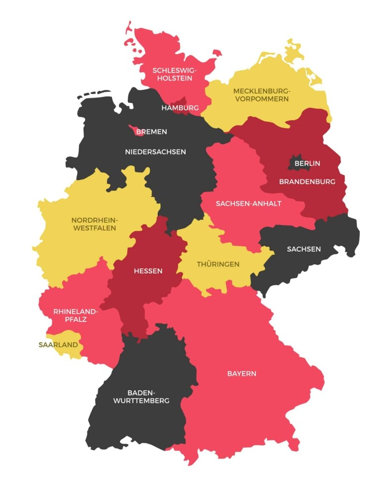 Germany States Map | Ephotopix intended for Map Of Germany And Its States