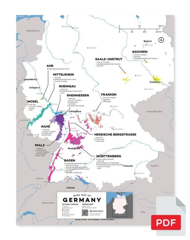 Germany Wine Map In 2019 | From Our Official Store | Wine, Wine with Map German Wine Regions