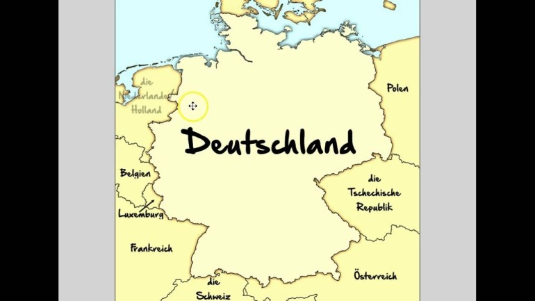 Germany's Neighboring Countries throughout Map Germany Neighboring Countries