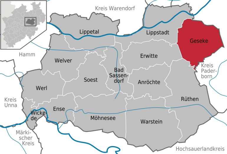 Geseke - Wikipedia within Map Of Hamm Germany