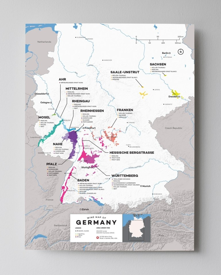 Guide To German White Wine | Wine Folly pertaining to Map German Wine Regions