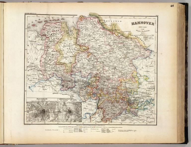 Hannover. - David Rumsey Historical Map Collection for Map Of Hannover Germany In 1850