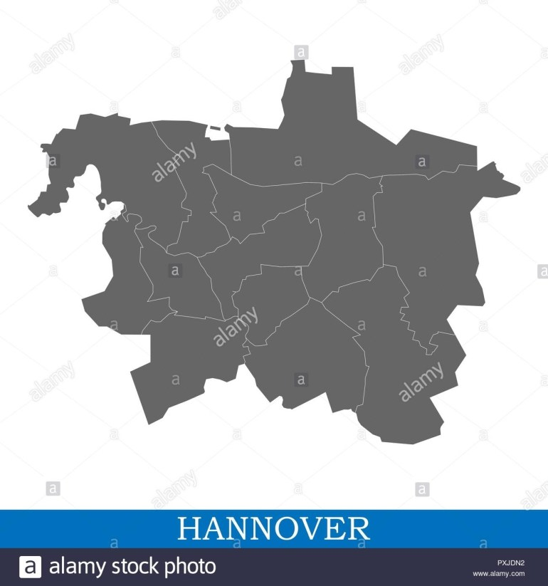 Hannover Germany Map Stock Photos & Hannover Germany Map Stock intended for Map Of Hannover Germany In 1850