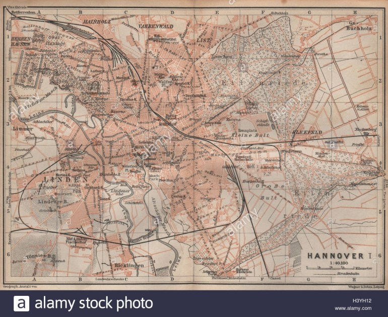 Hannover Germany Map Stock Photos & Hannover Germany Map Stock regarding Map Of Hannover Germany In 1850