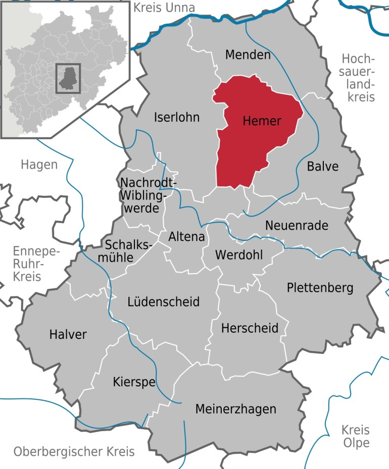 Hemer - Wikipedia within British Army Bases In Germany Map