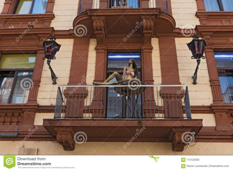 House Facade With Balcony And Dolls In The Red Light District Near with regard to Red Light District Frankfurt Germany Map