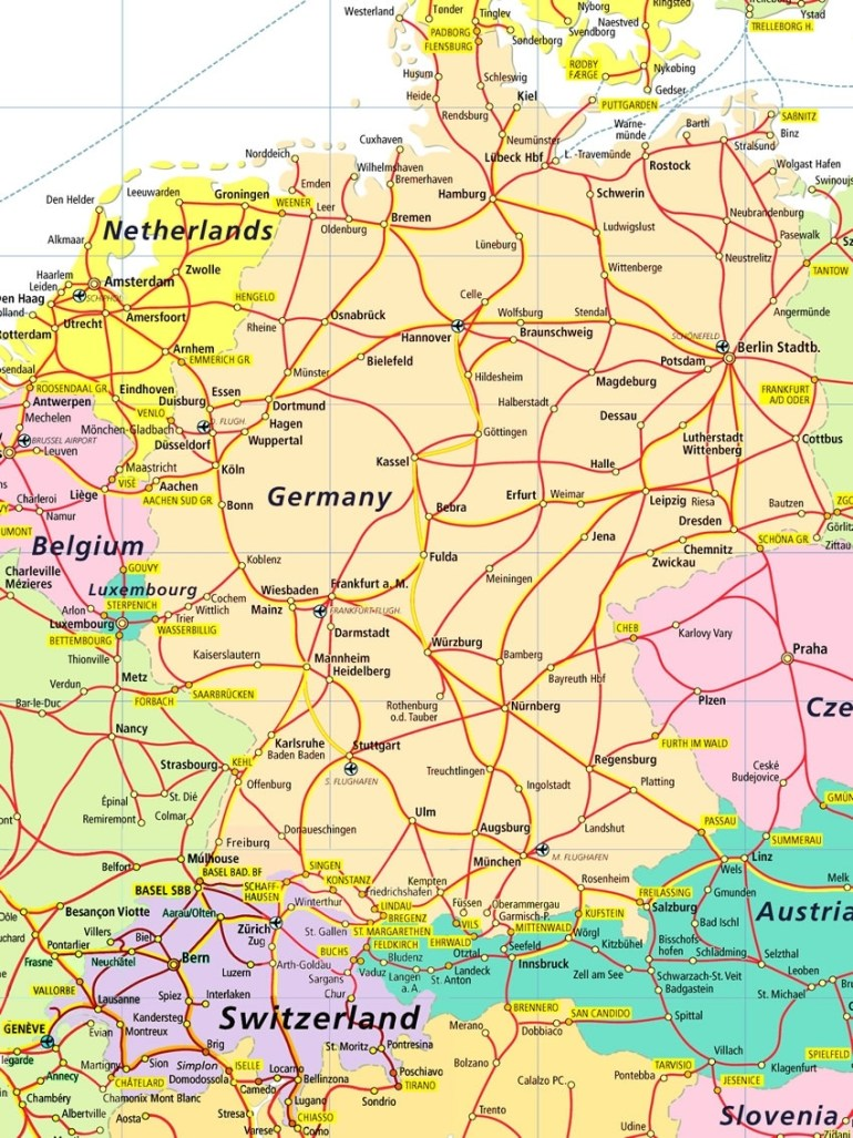 Index Of /images/rail intended for Map Of France Germany And Austria