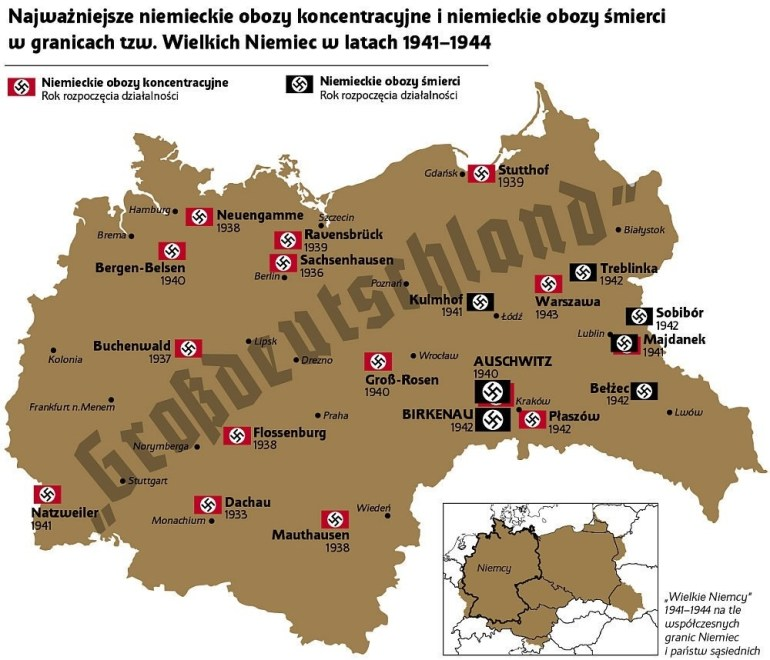 """Institute Of National Remembrance On Twitter: """".@yaakovkatz We with Map Of Concentration Camps In Germany To Visit"""