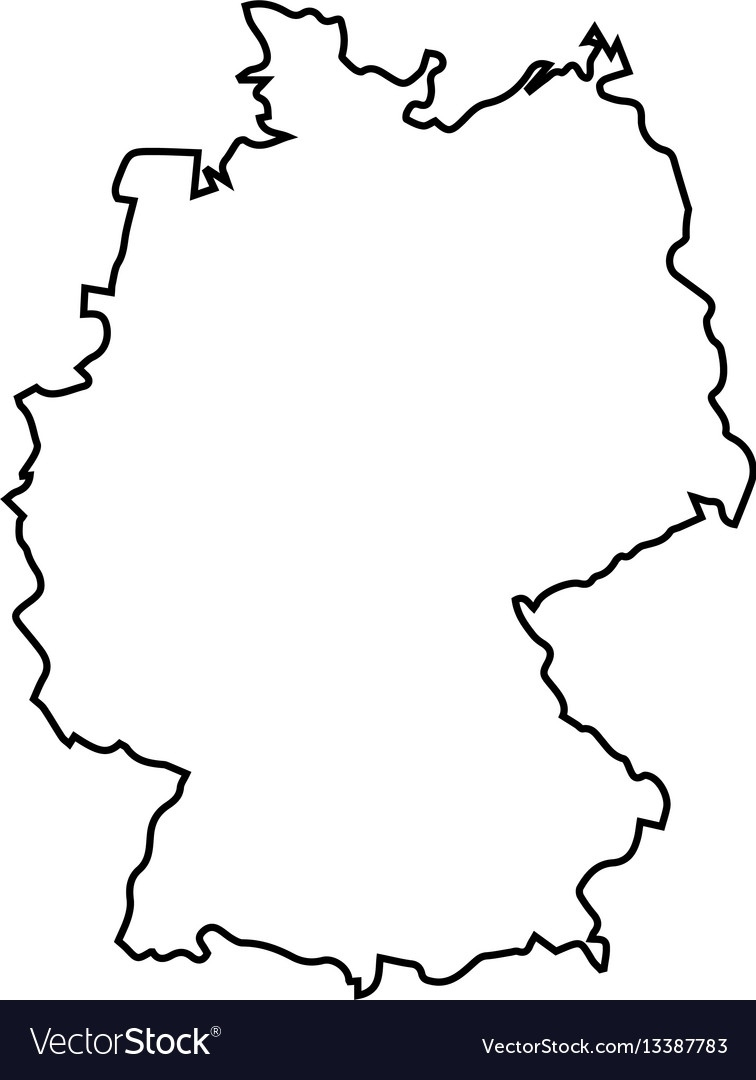 Isolated Germany Map regarding Germany Map Black And White