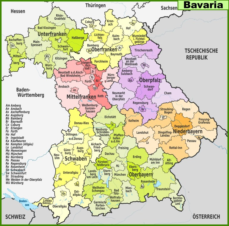 Large Bavaria Maps For Free Download And Print | High-Resolution And with regard to German Rail Map Bavaria